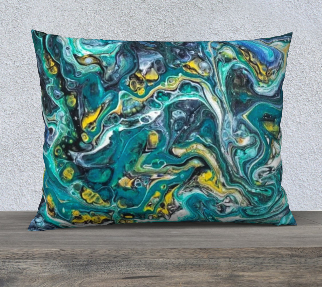 teal abstract 26x20 pillow case preview