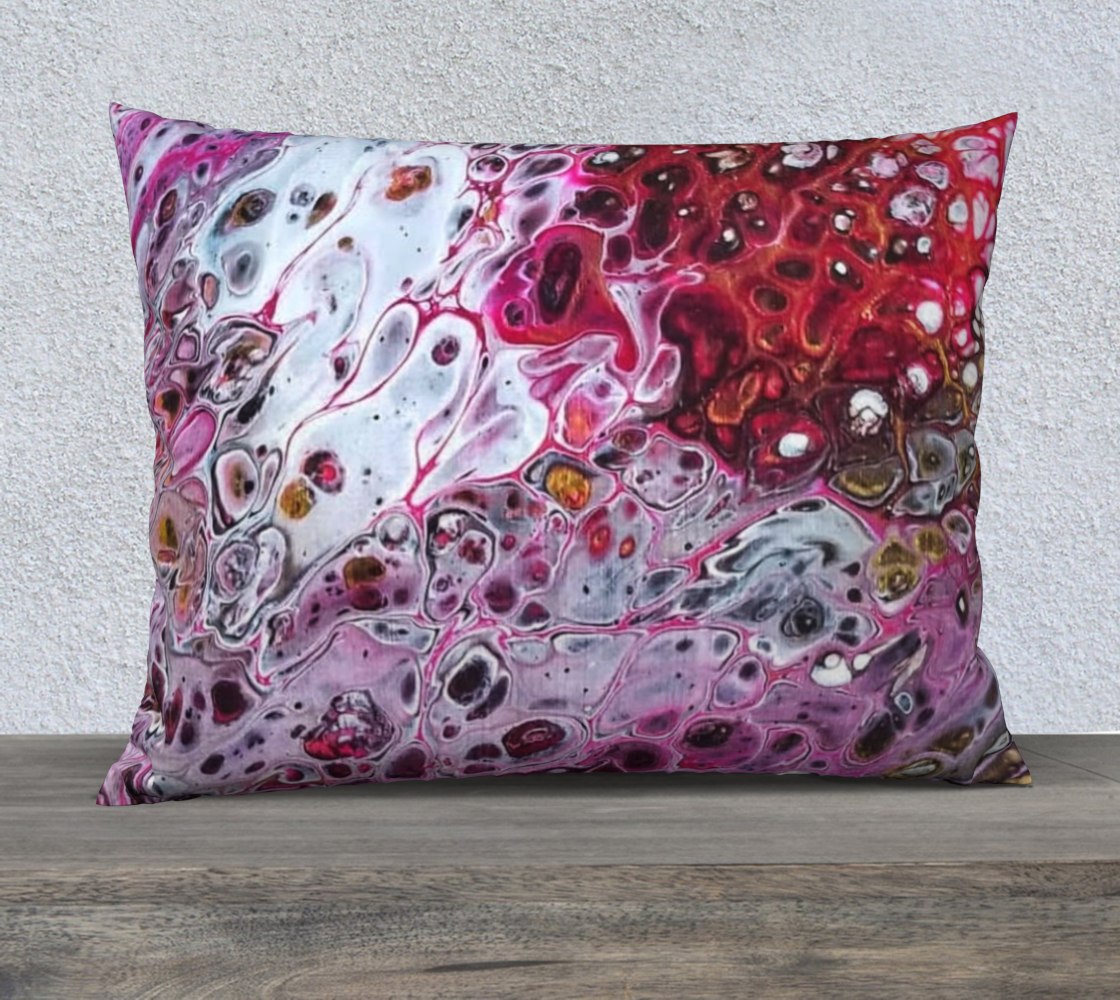 rose colored rubies 26x20 pillow case preview