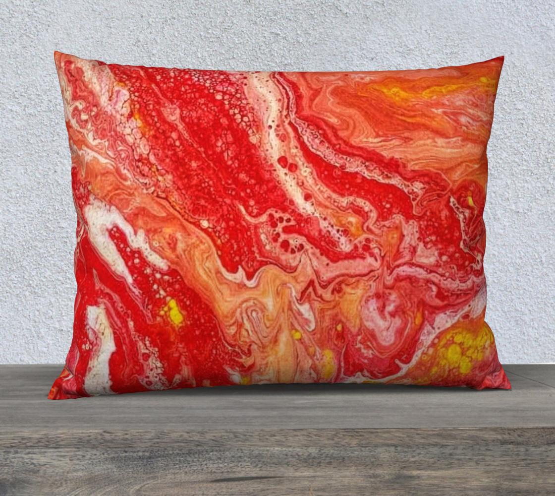 coral fire 26x20 pillow case preview