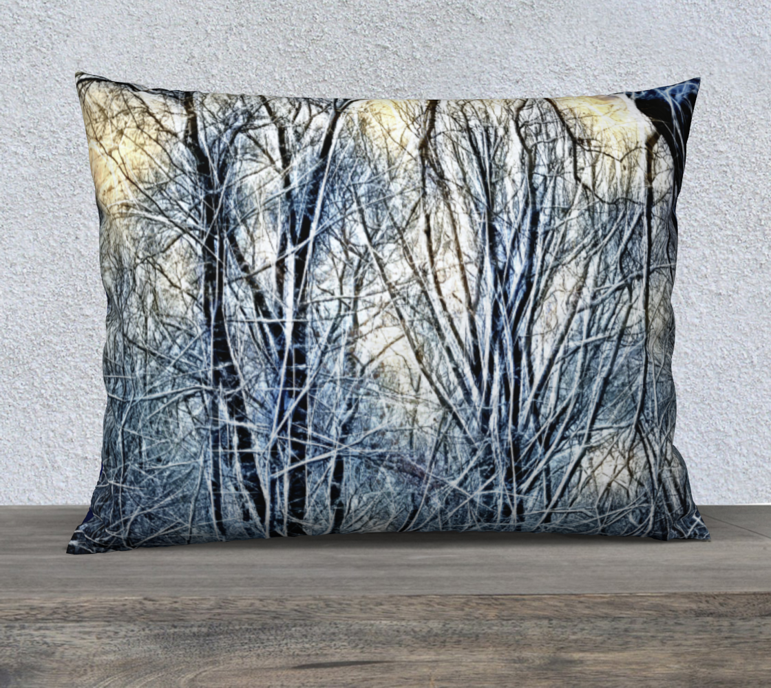 Aperçu de 4 Oclock Winter Landscape Pillow Case