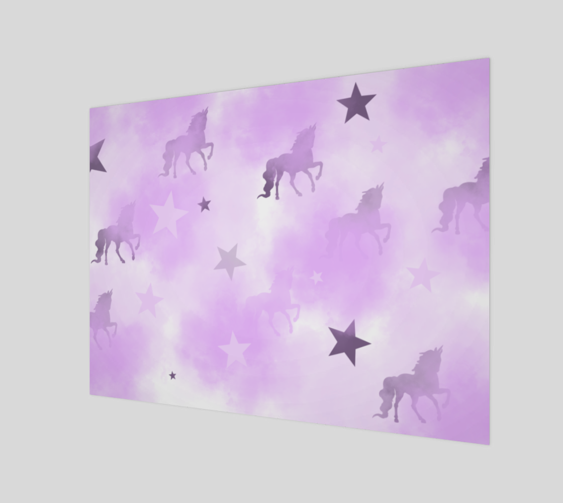 Mystical Dreams Unicorn Wall Canvas 32x24 preview #1