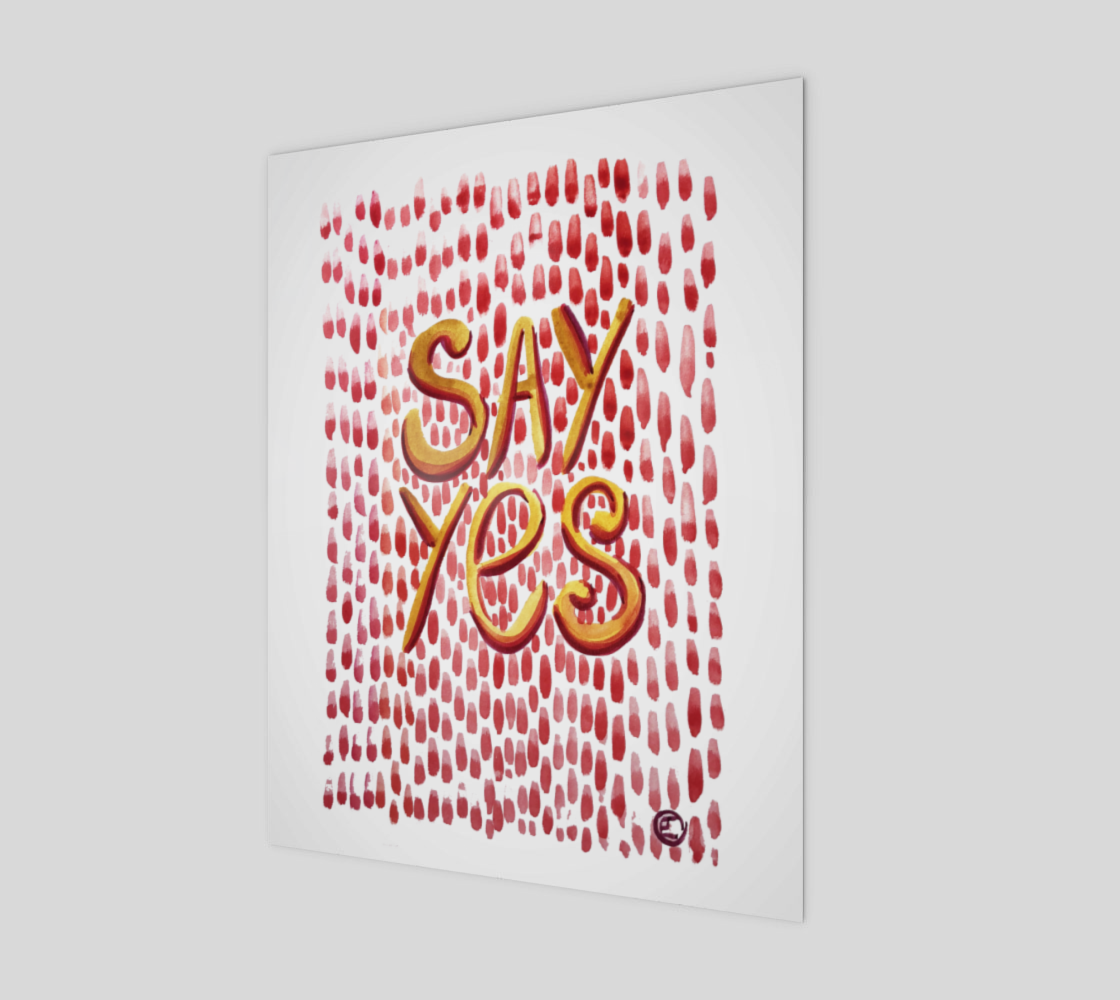 SAY YES - Print preview