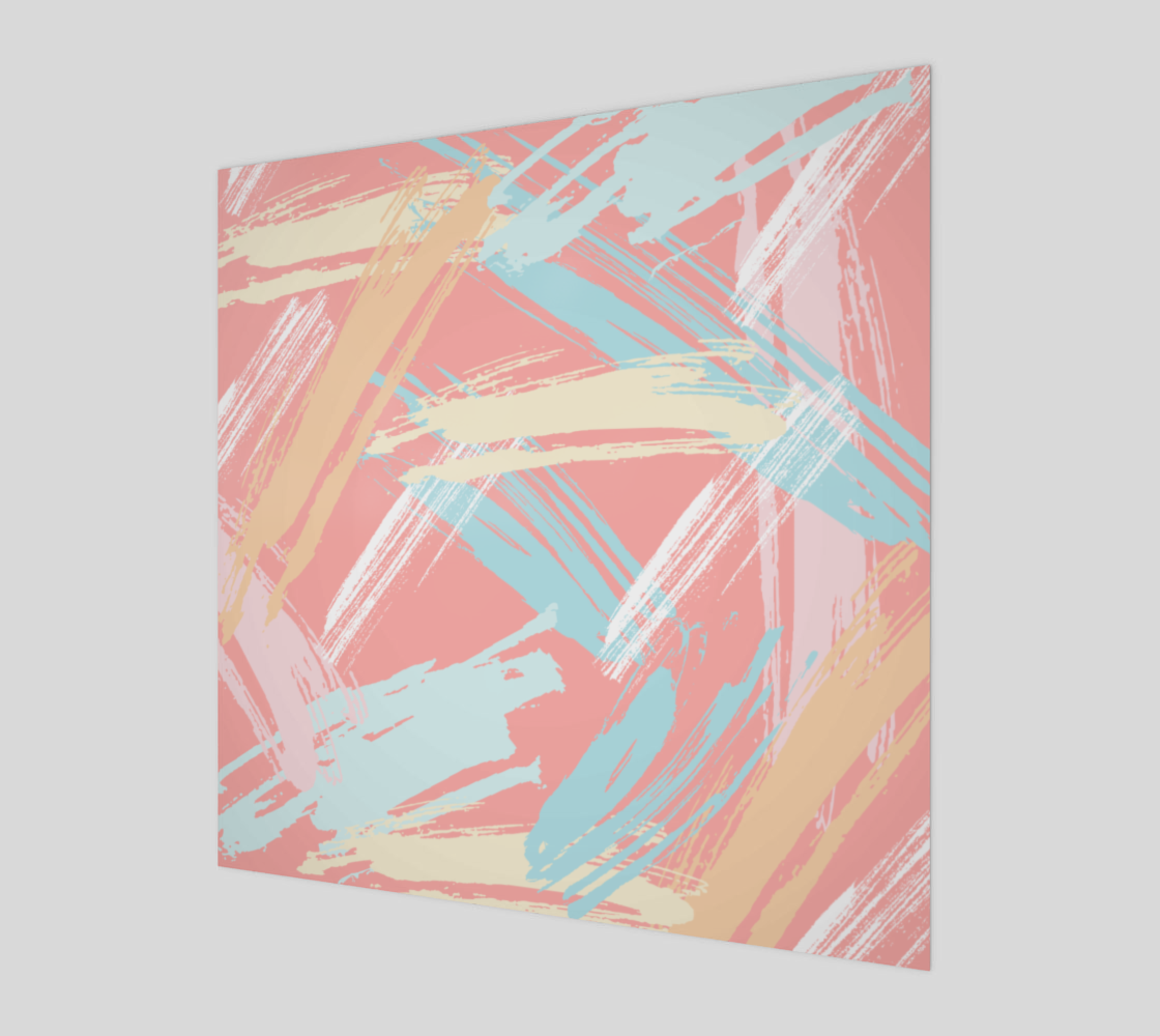 Pastel Abstract Brush Stroke Canvas preview