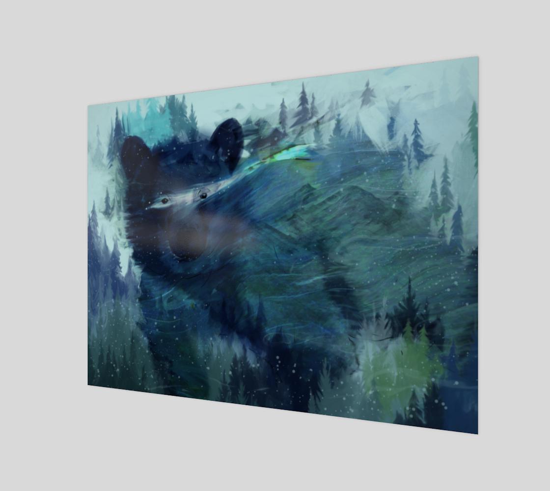 Aperçu de Wandering Presence Bear Art Print