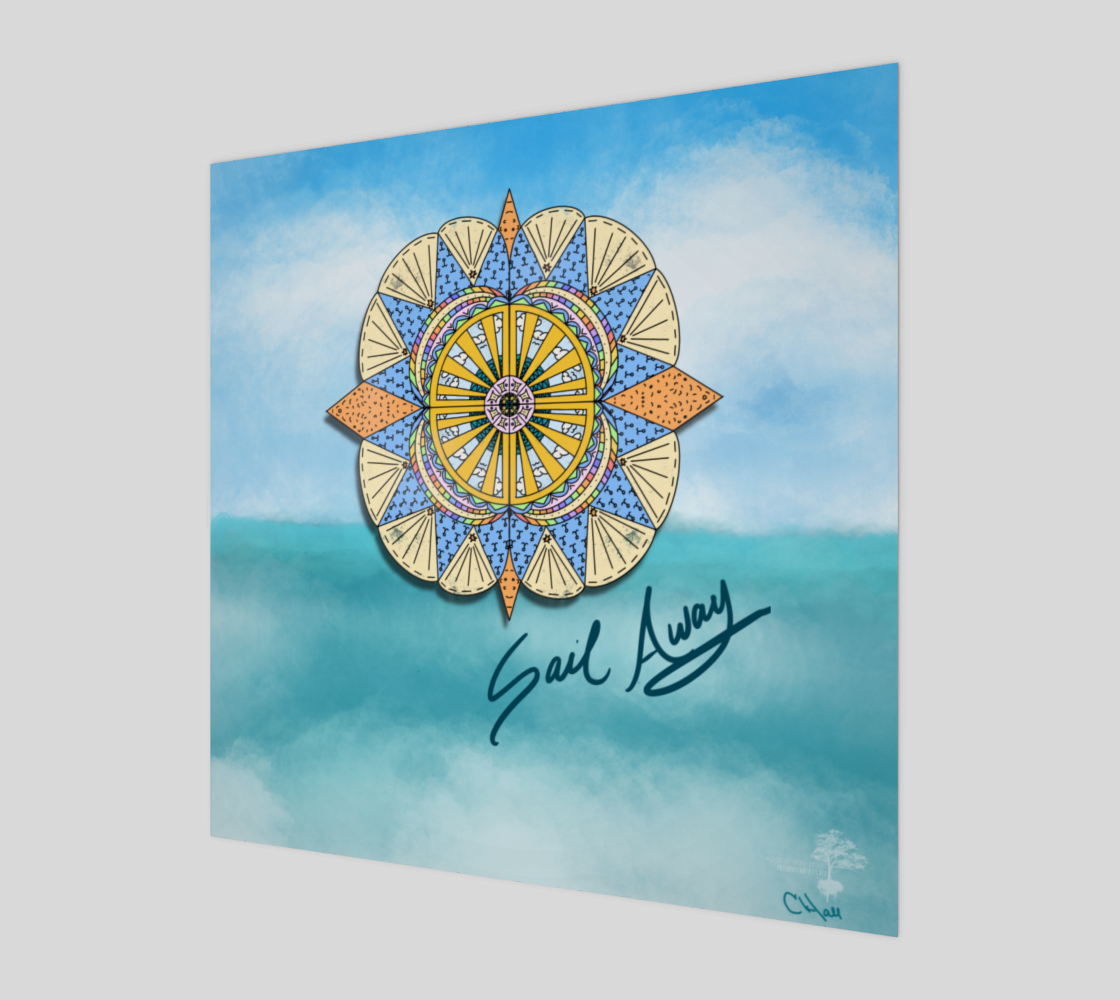 "Aperçu de ""Sail Away"" Beach Mandala"