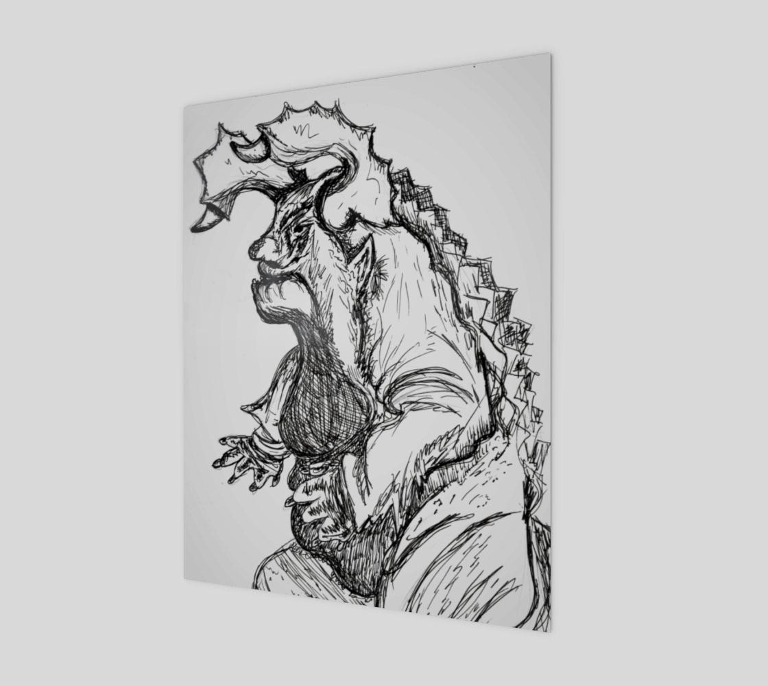 Aperçu de Inked Monster Print