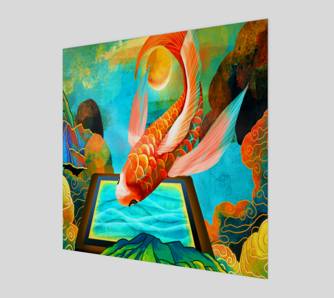 Bird isolated throw tropical leaves  preview
