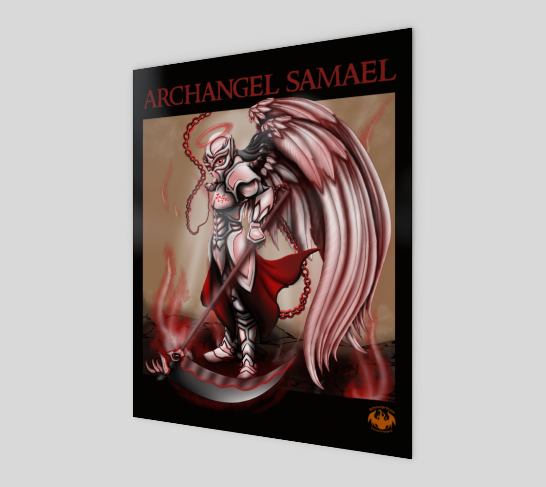 Archangel Samael / Smaller Poster, Print Option 3D preview