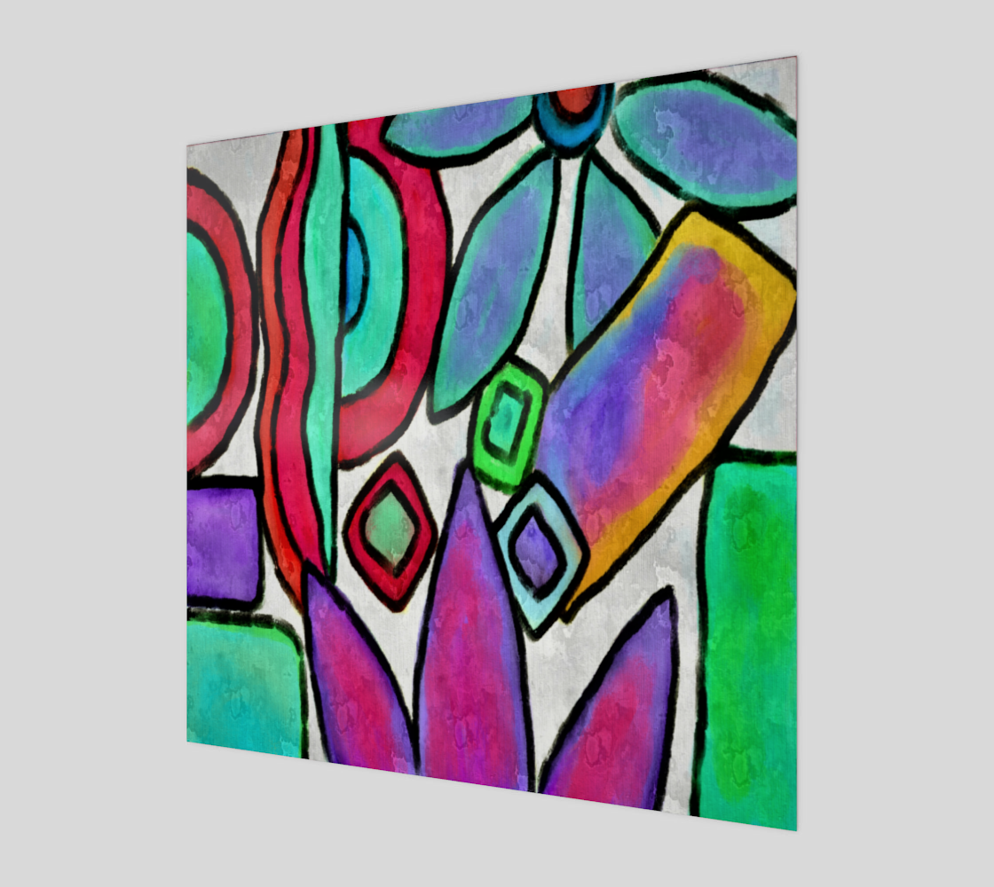 Funky Garden Abstract Digital Print preview