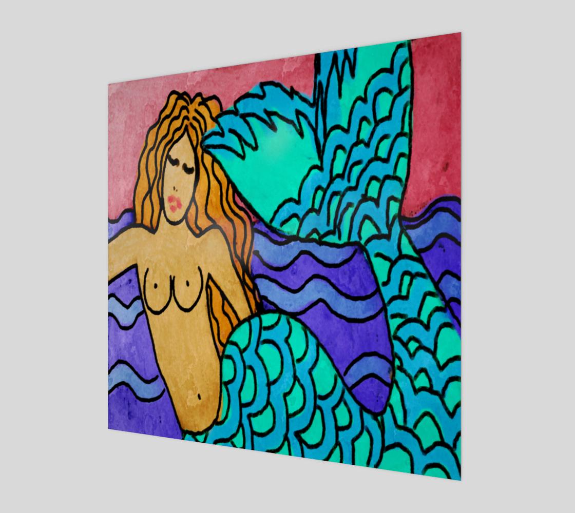 Aperçu de Colorful Abstract Mermaid Painting Print