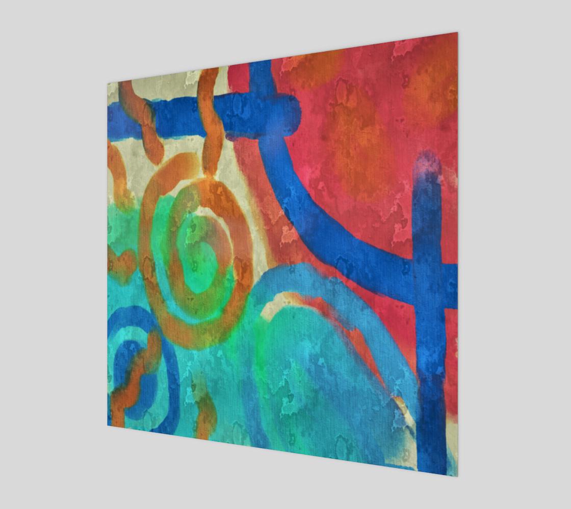 Aperçu de Sun and Sea Abstract Digital Painting Print