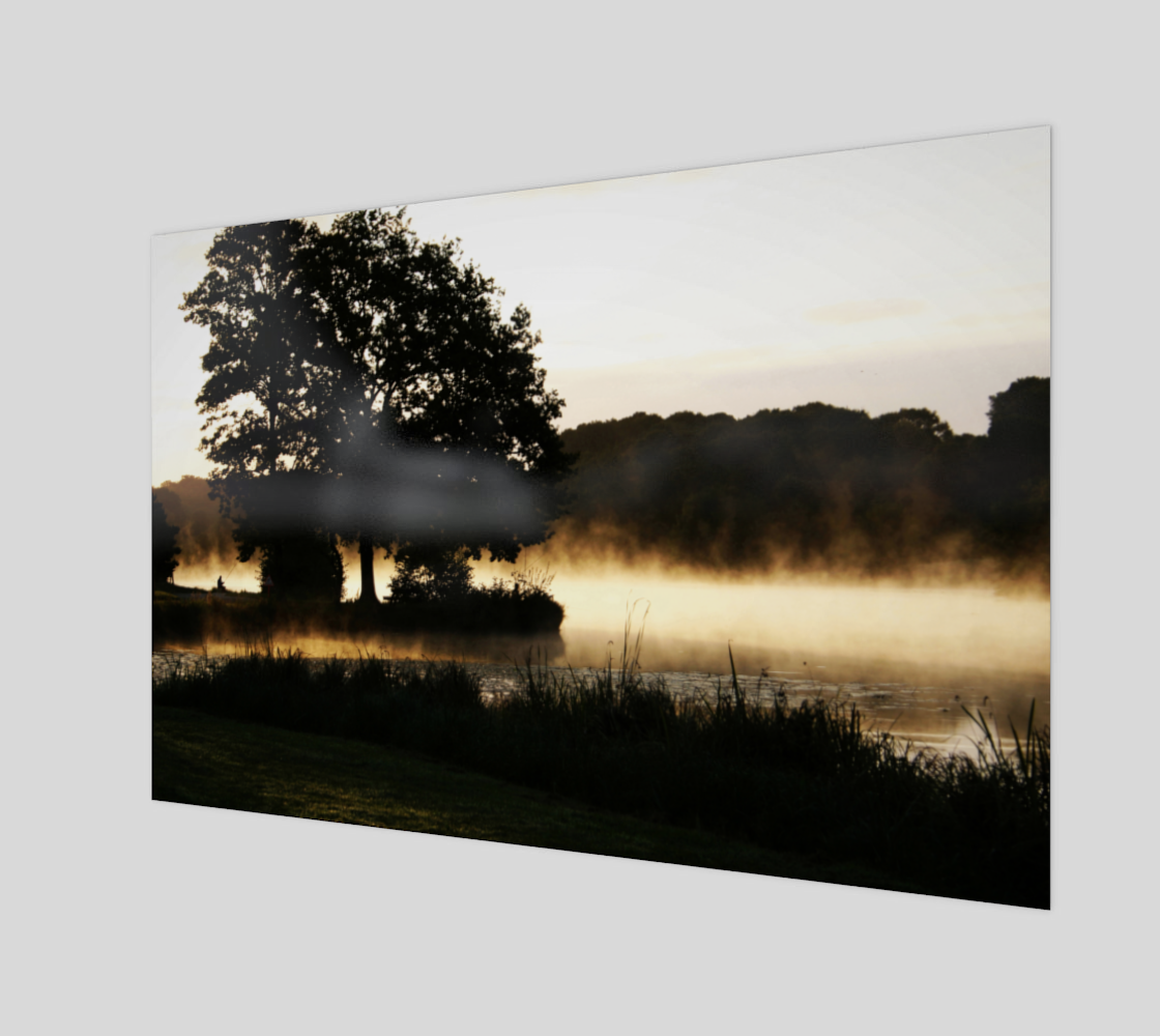 Morning Lake Scene Acrylic Print preview #1