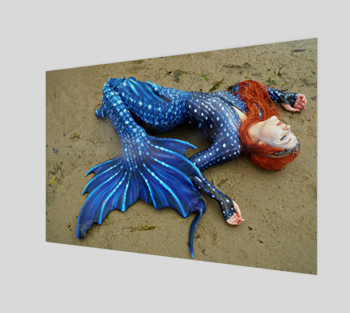 Stretched out Blue Mermaid 3D preview