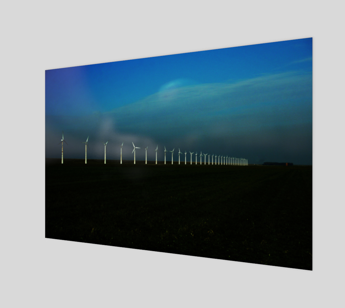 Windfarm Art Print preview