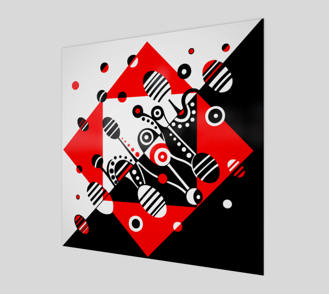Aperçu de MICROGRAVITY-Red-and-Black Acrylic Print