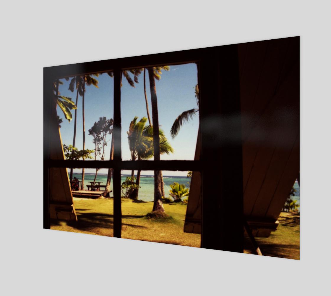 Tropical Fiji Beach Scene Poster Print preview