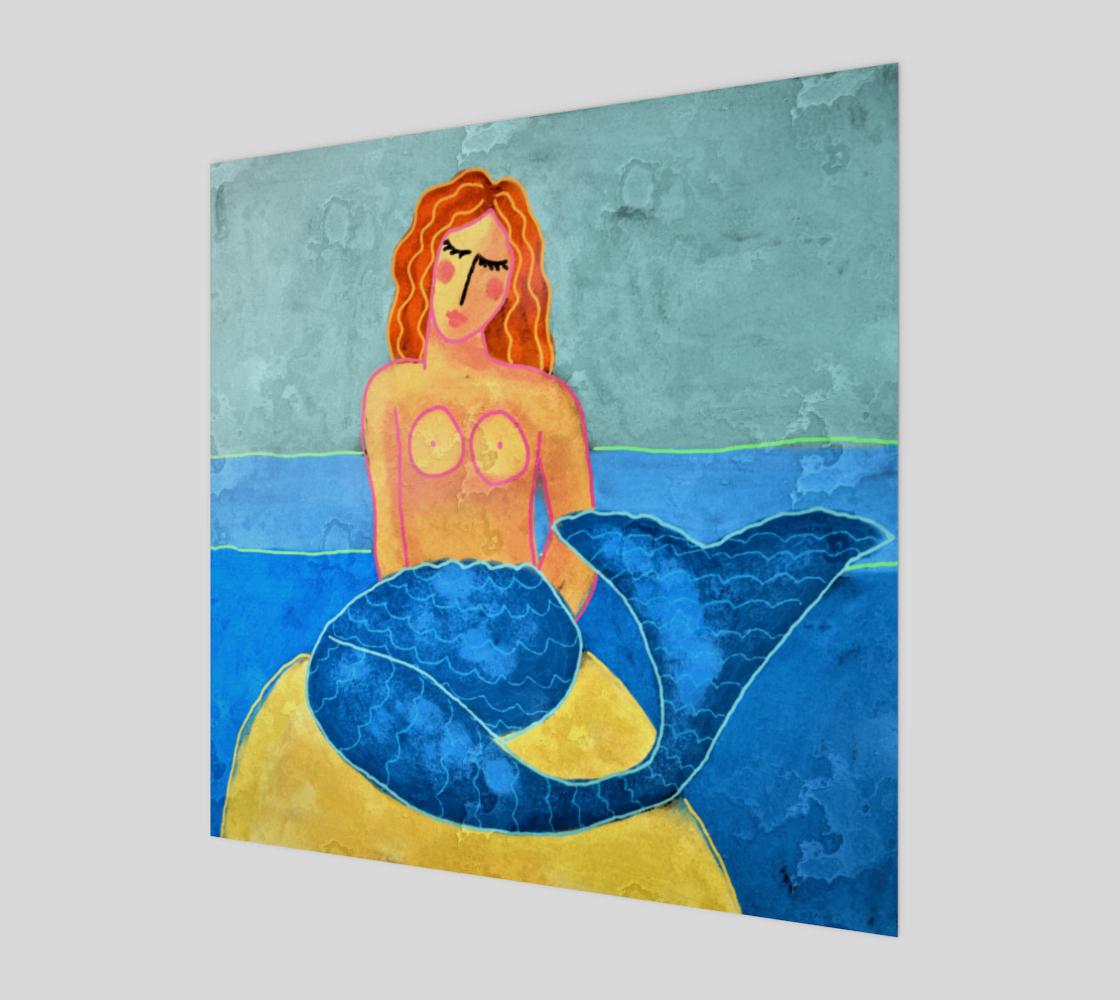 Aperçu de Mermaid by the Sea Abstract Painting