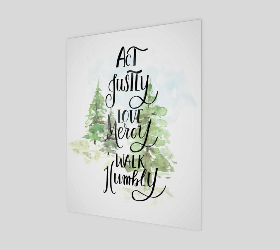 Aperçu de Act Justly Love Mercy Walk Humbly Wood Art