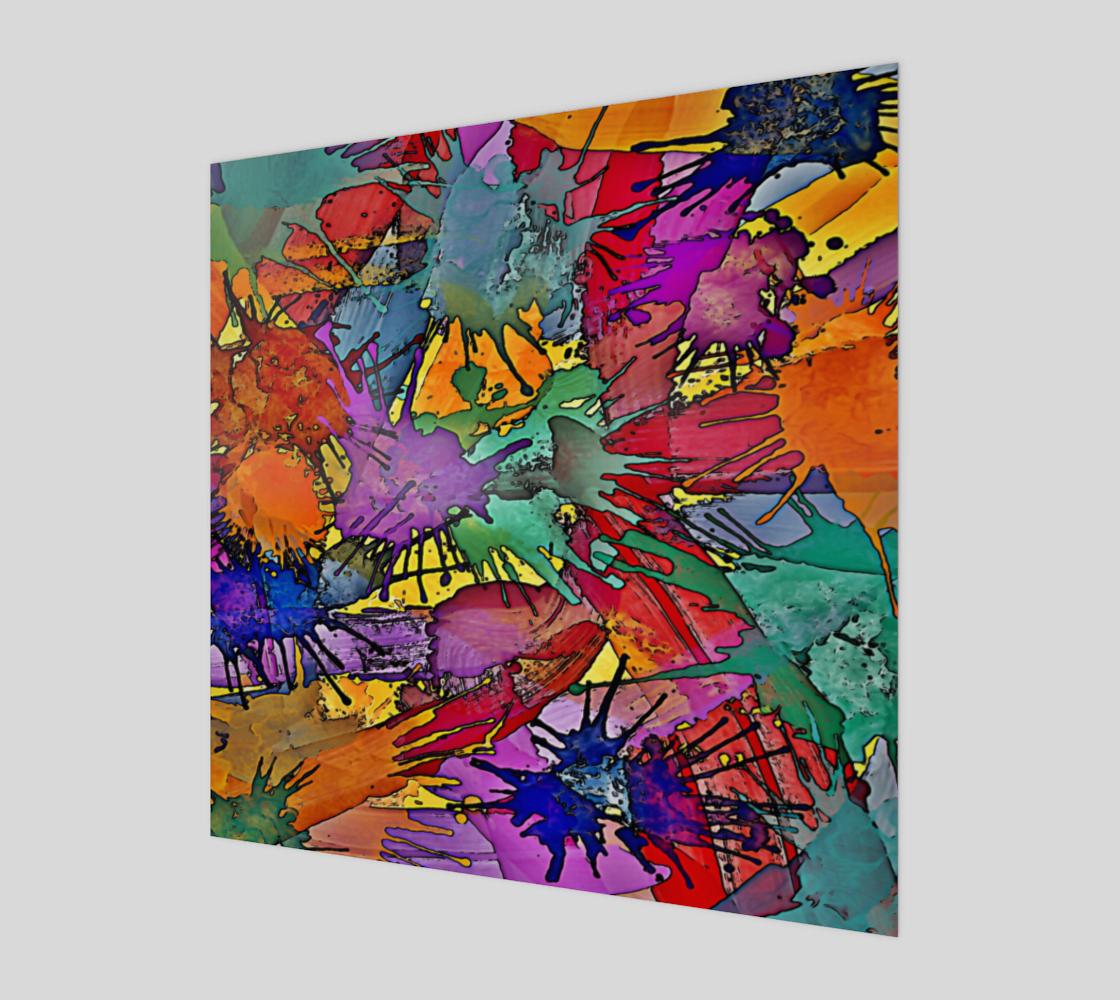 Multicolored Painting Splashes Pattern by EDDArt preview