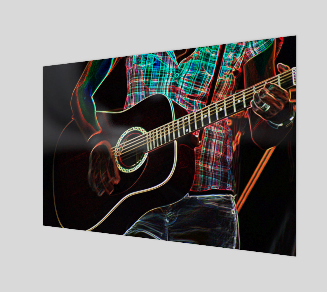 Guitar 1 Wood Print preview