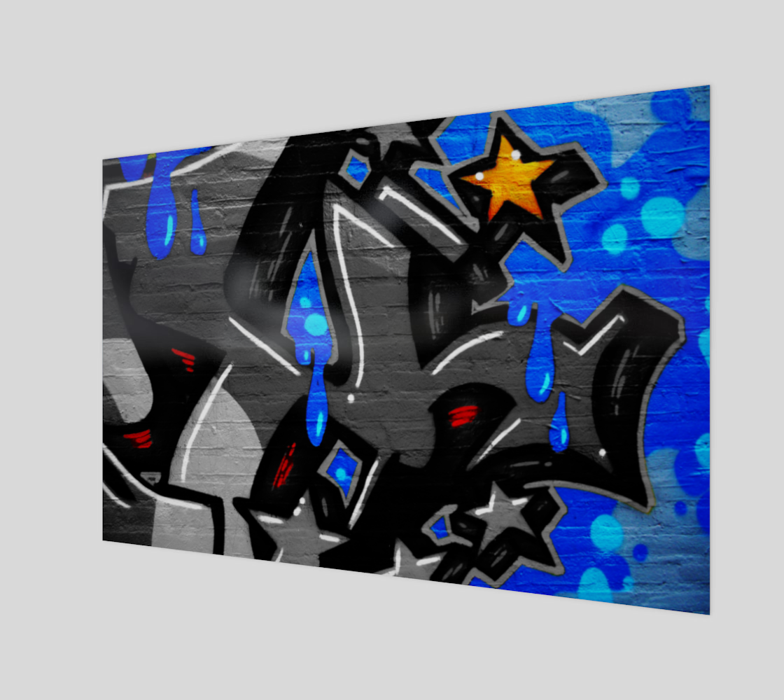 Graffiti 3 Wood Print preview #1