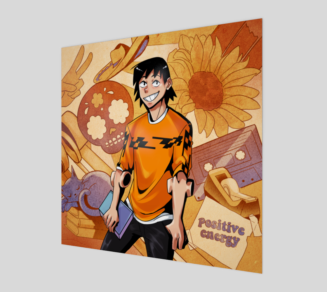 Golden Boi Aesthetic Print preview
