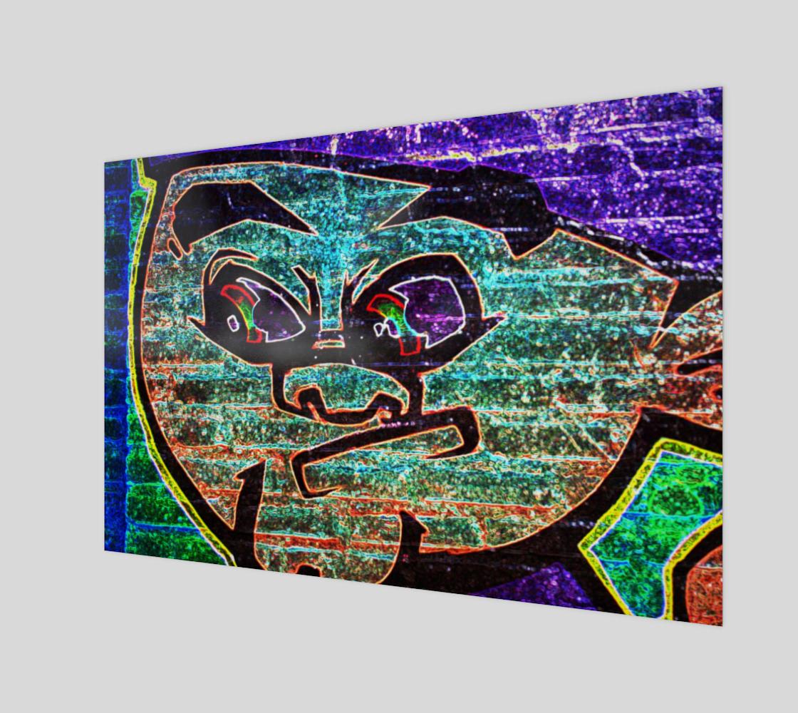 Graffiti 7 Wood Print preview