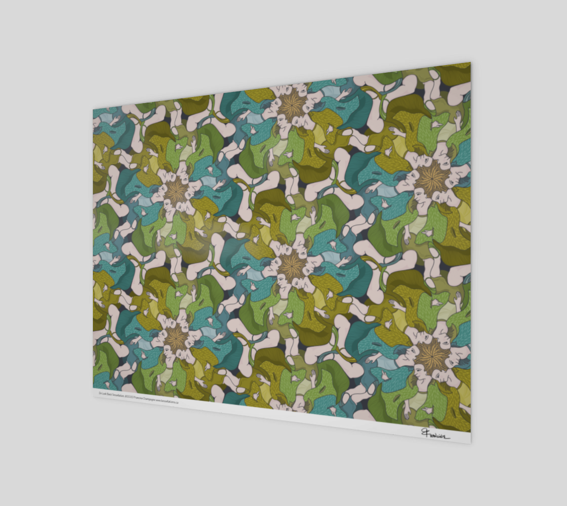 Do Look Back, a tessellation by Francine Champagne preview