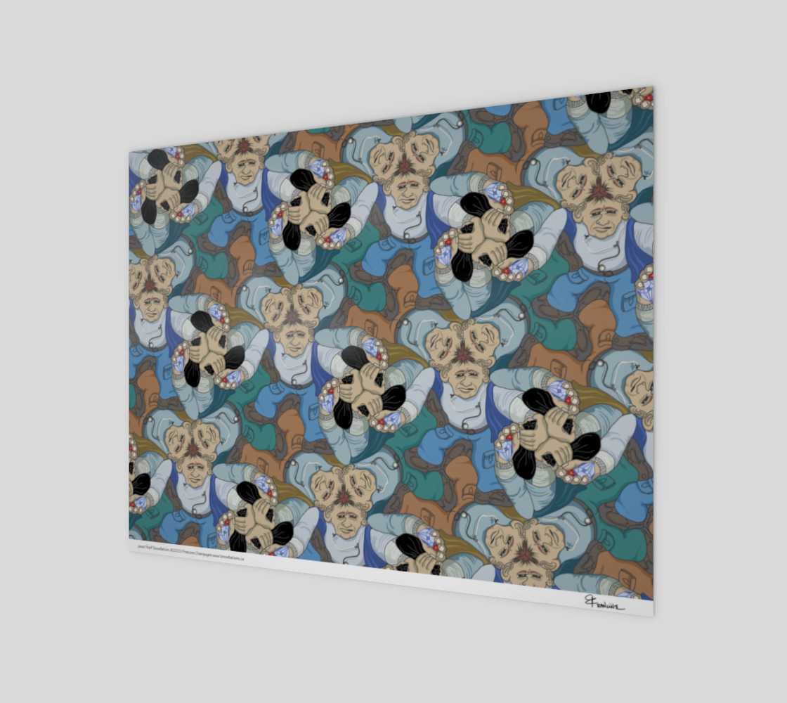 Jewel Thief, a tessellation by Francine Champagne preview #1