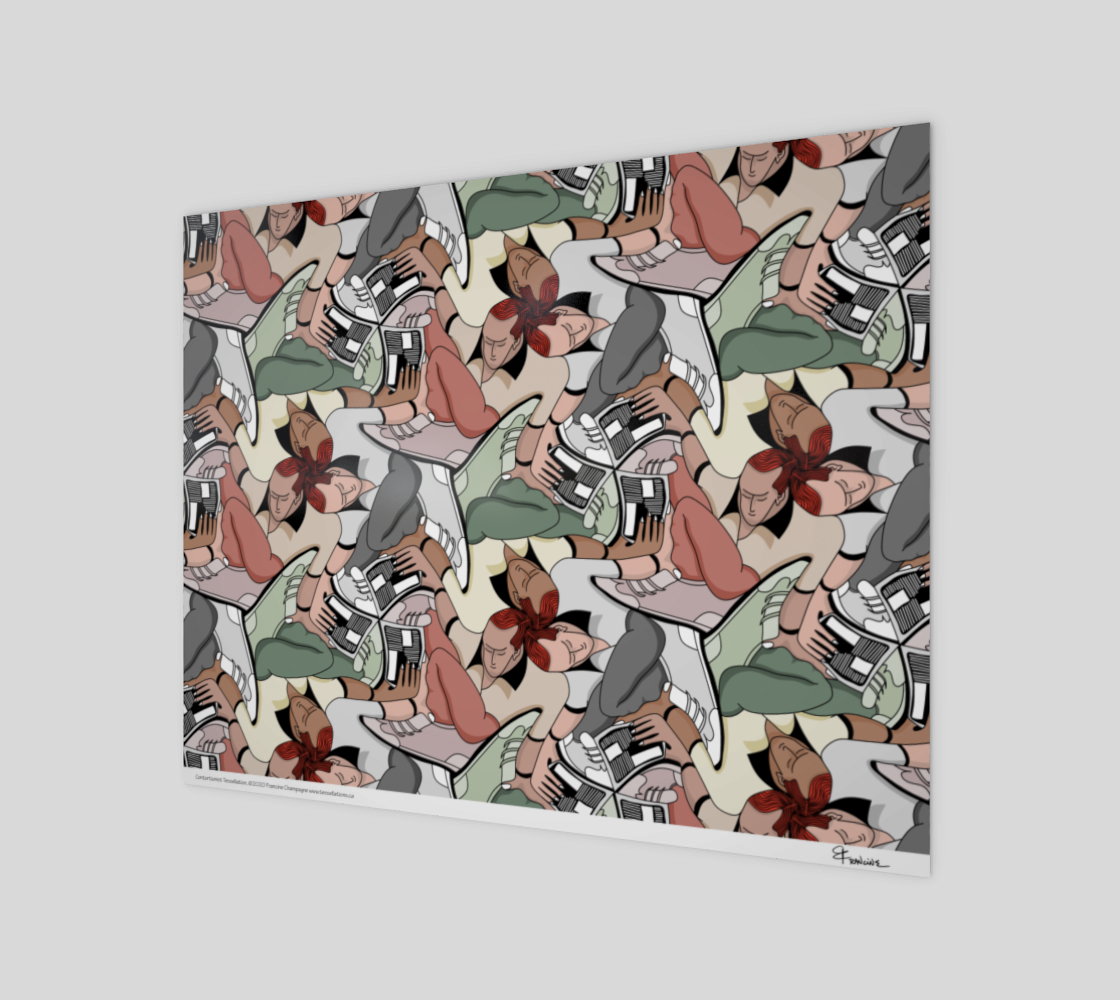 Contortionist, a tessellation by Francine Champagne preview