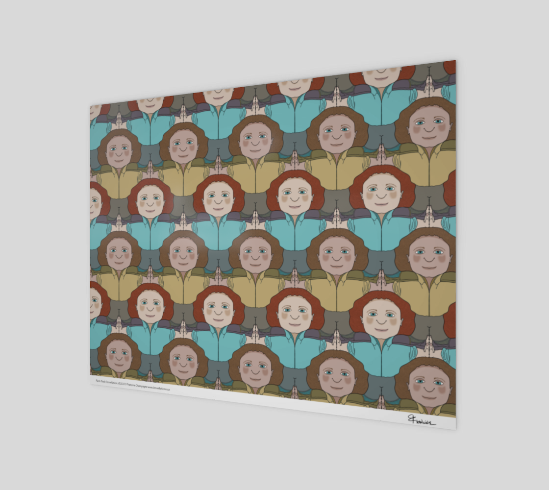 Push Back, a tessellation by Francine Champagne preview