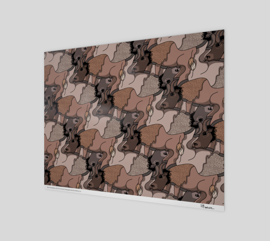 Bison, a tessellation by Francine Champagne preview