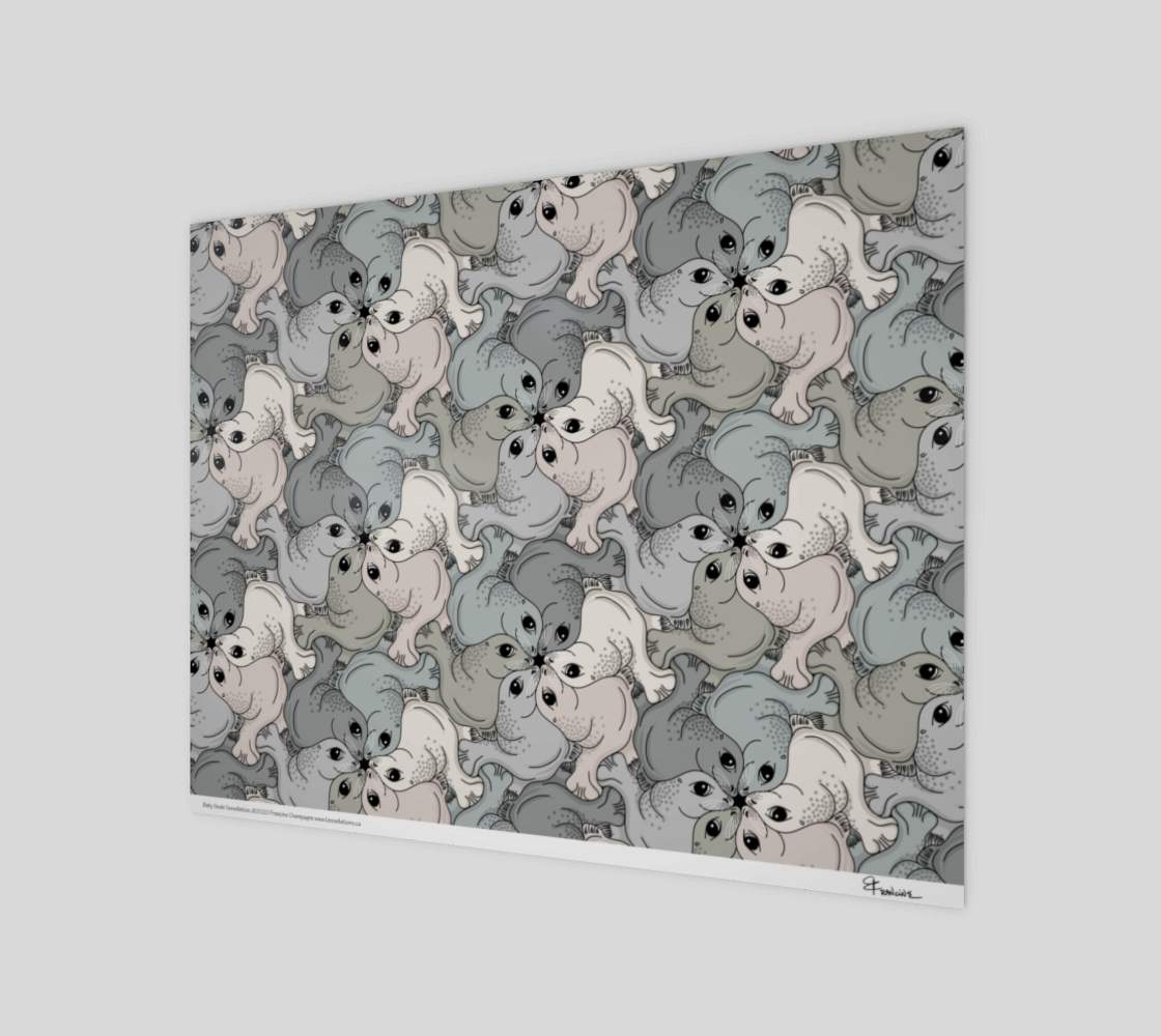 Baby Seal, a tessellation by Francine Champagne preview
