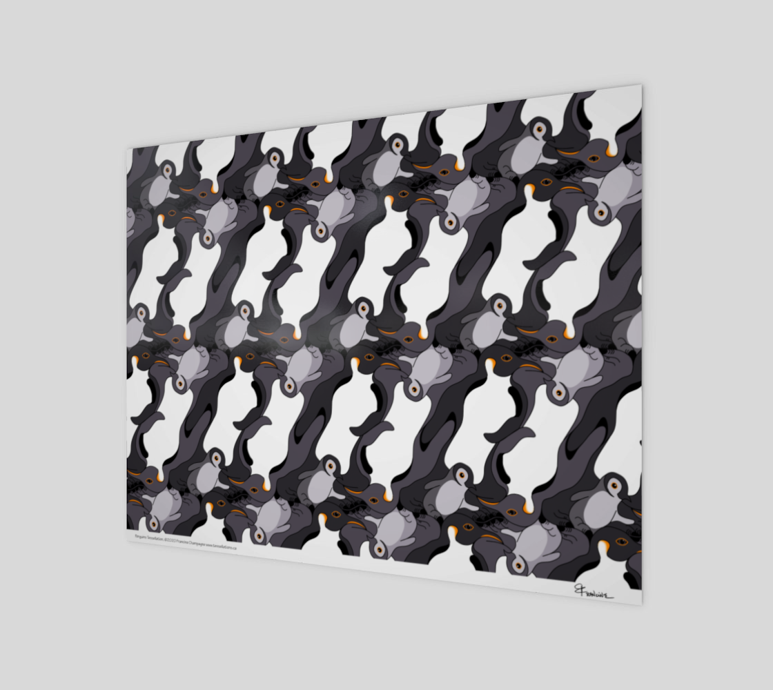 Penguins, a tessellation by Francine Champagne preview #1