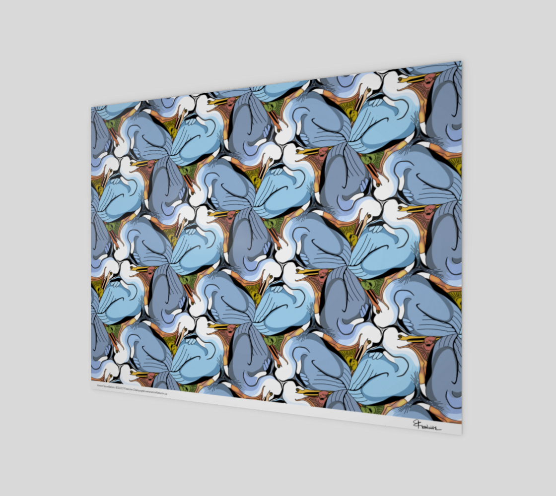 Great Blue Heron, a tessellation by Francine Champagne preview #1
