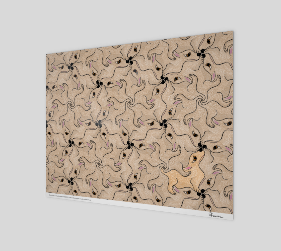 Dachshund, a tessellation by Francine Champagne preview