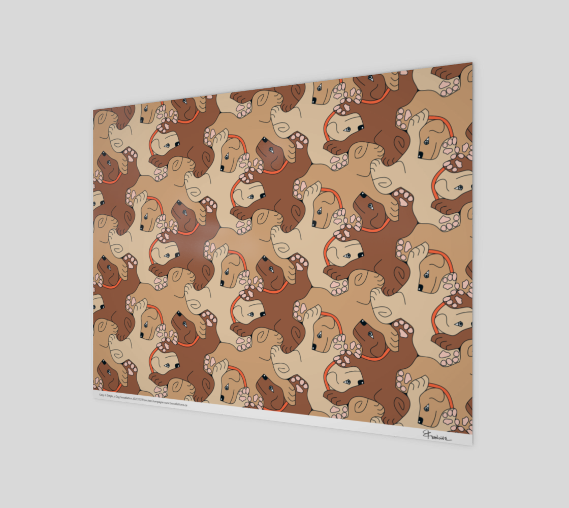 Keep It Simple. a dog tessellation by Francine Champagne preview