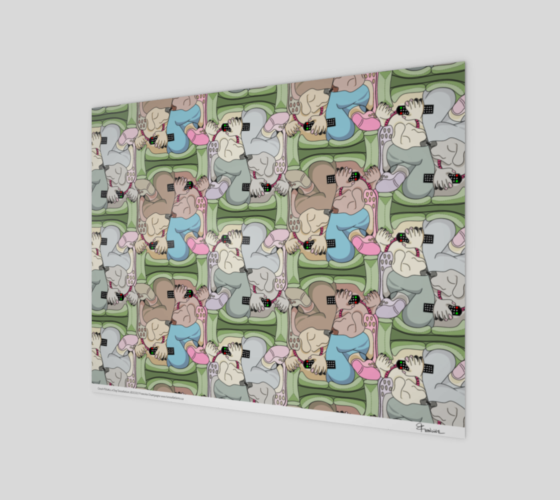 Couch Potato, a dog tessellation by Francine Champagne preview