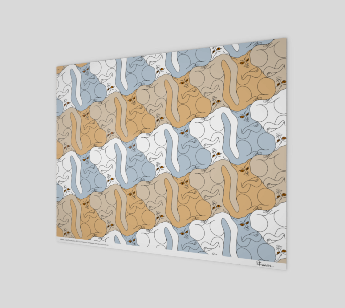 Alonzo, a cat tessellation by Francine Champagne preview