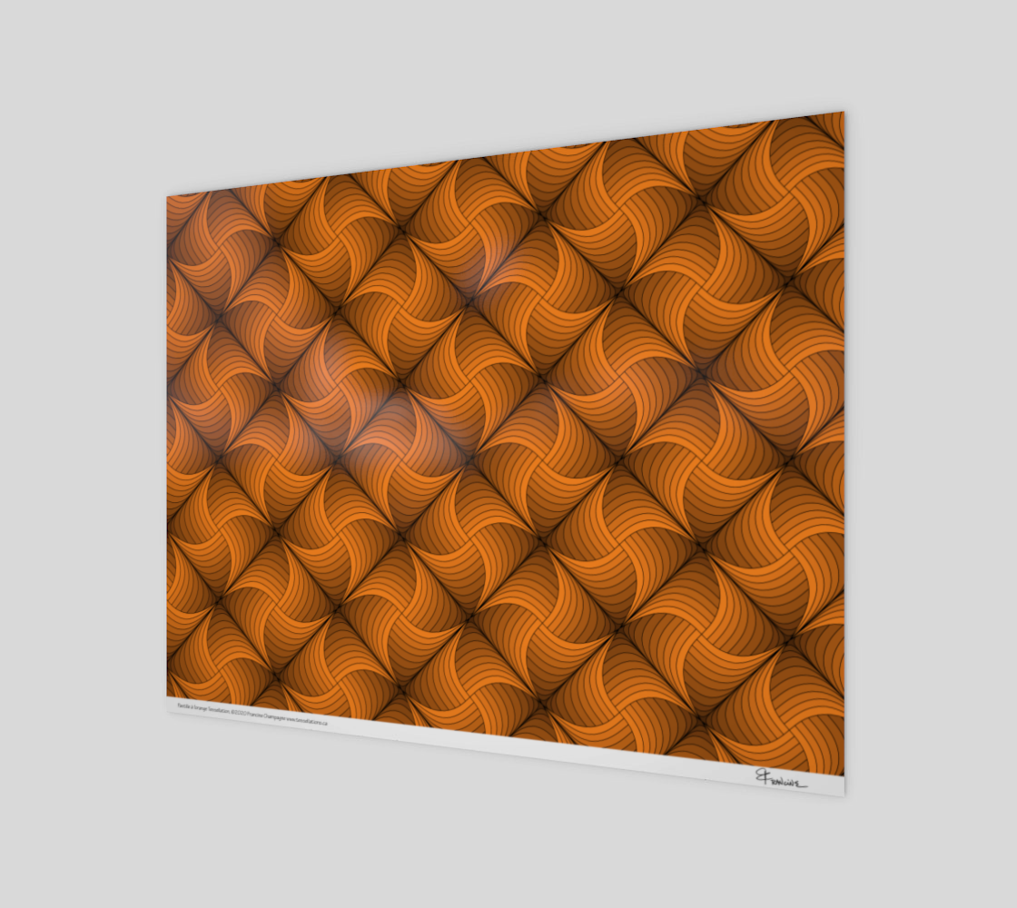Pastille à l'orange, a tessellation by Francine Champagne preview