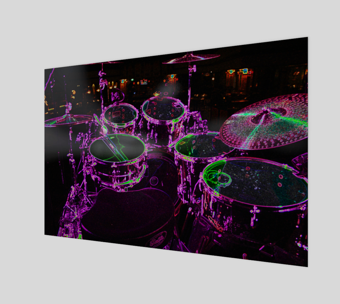 Drums Wood Print preview