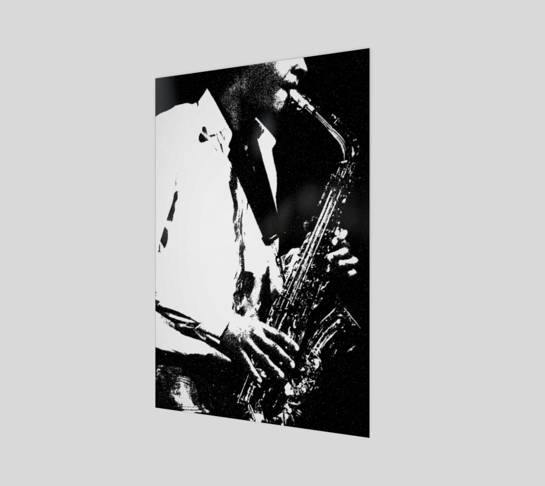 Saxophone Wood Print preview