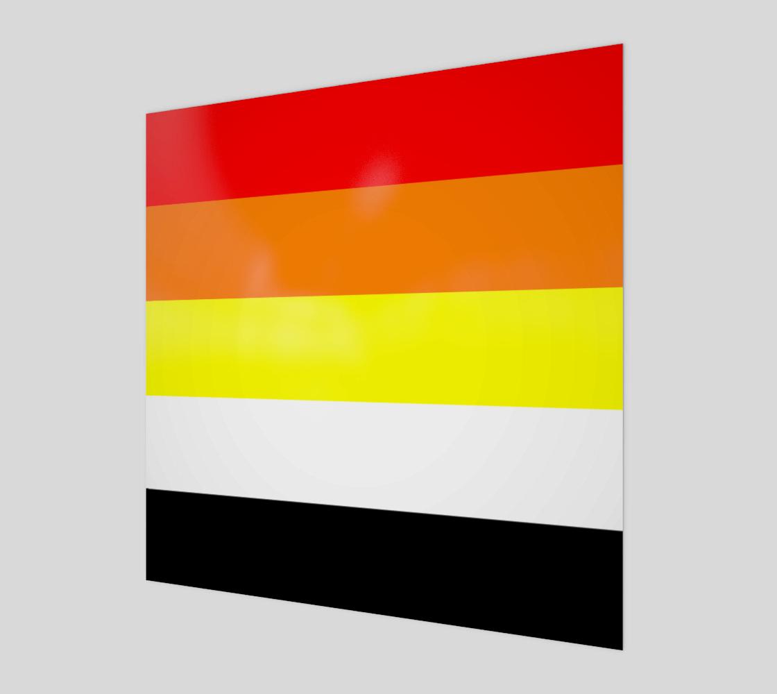 Akoisexual LGBRQ+ Pride Wall Art Wood Poster Print preview