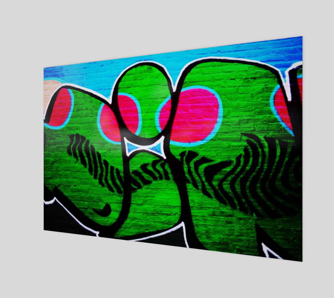 Graffiti 12 Wood Print preview
