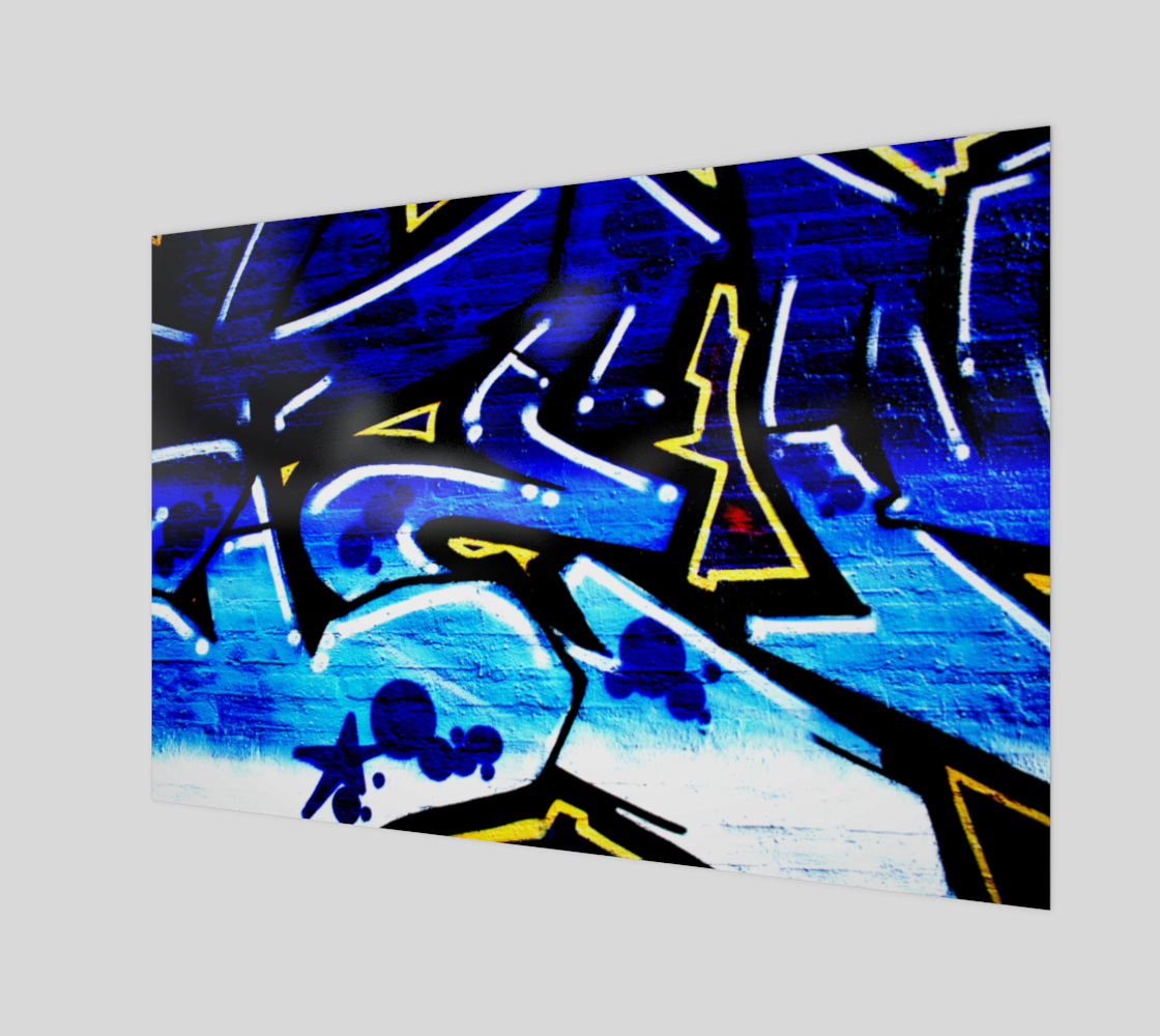 Graffiti 15 Wood Print preview