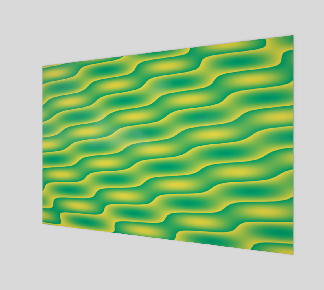 Ripples in Green and Yellow preview