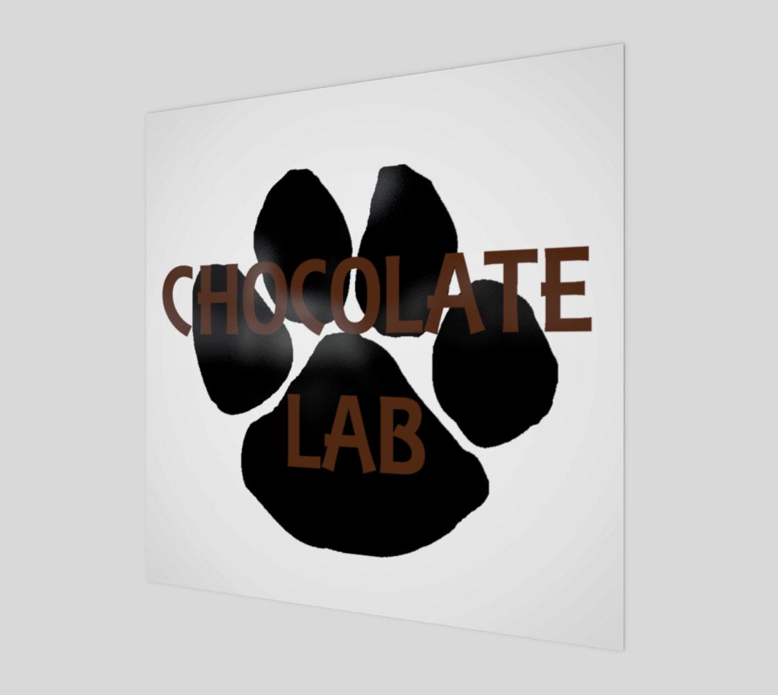 Labrador Retriever chocolate name paw wall art preview