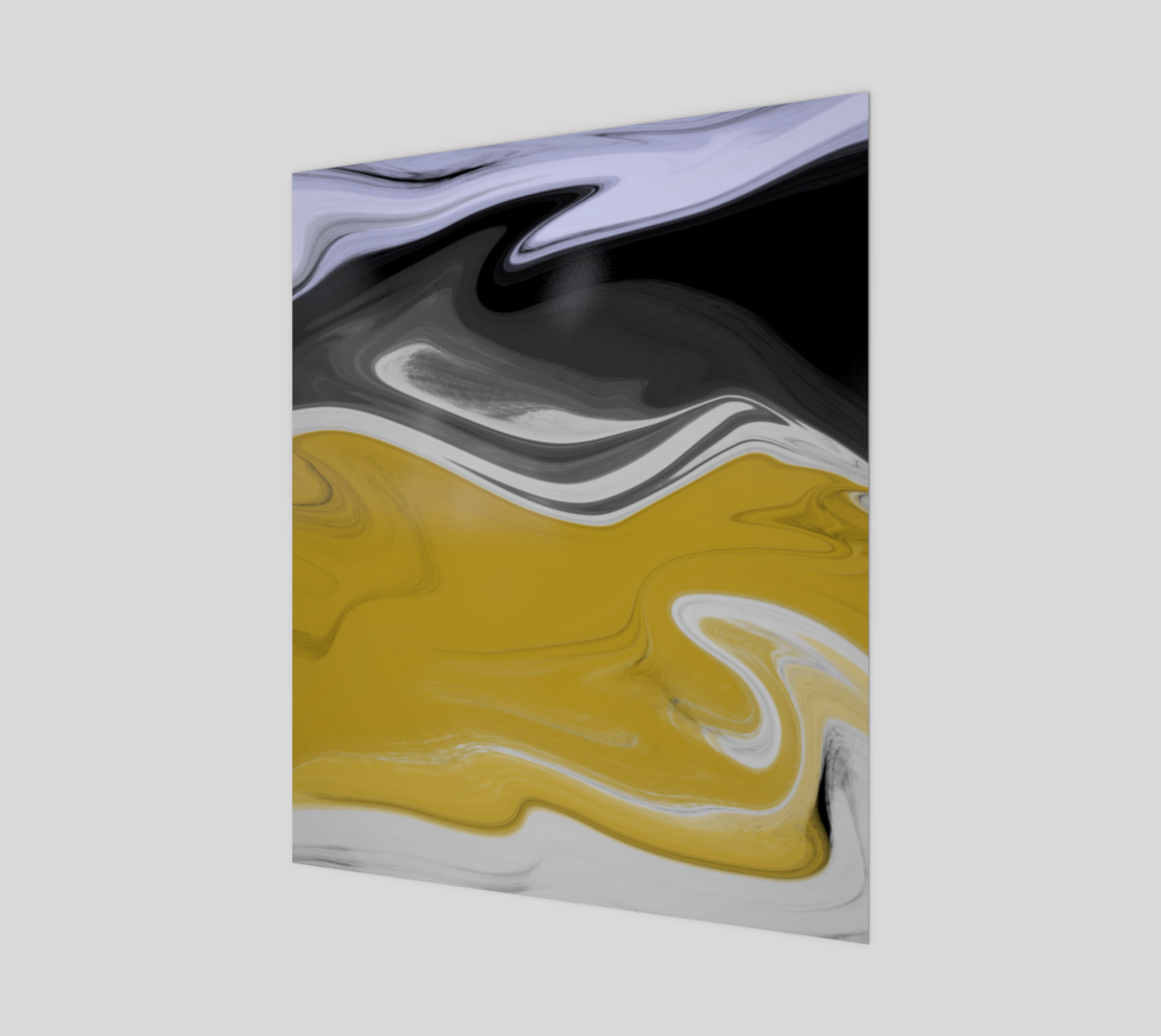 Liquid Black Gold 20x24 Art Print preview