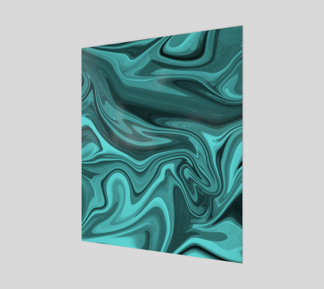 Teal Twirl 20x24 Art Print preview