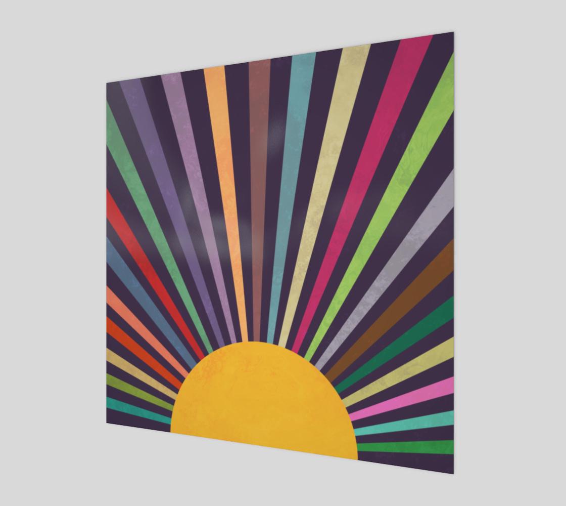 Minimalist Retro Rainbow Sun Rays preview